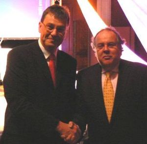Martin Bare and Lord Falconer in 2007 at the A...