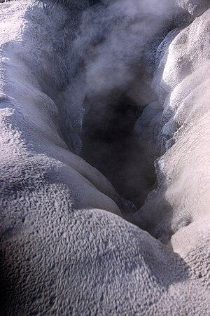 Old Faithful Geyser Vent, Yellowstone National...