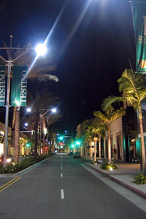 Rodeo Drive at night