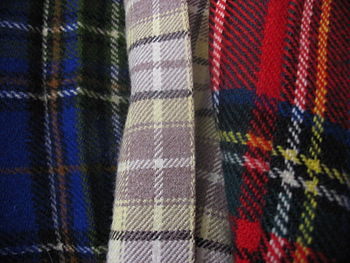 Three examples of Scottish tartan