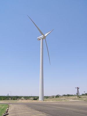 English: Vestas V47 wind turbine with double w...
