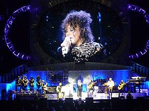 English: Whitney Houston in Milan. Português: ...