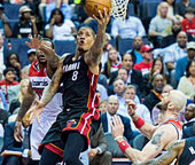 Beasley During His Second Tenure With The Heat Playing Against The Washington Wizards In April