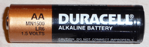 English: Duracell battery