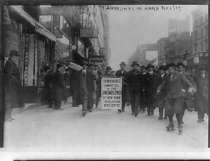 Manifestation à New York le 21 mars 1914