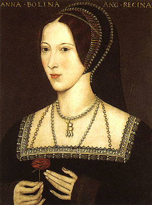 Portrait of Anne Boleyn, Henry's second queen;...