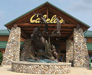 The statute outside Cabela's in Wheeling, WV