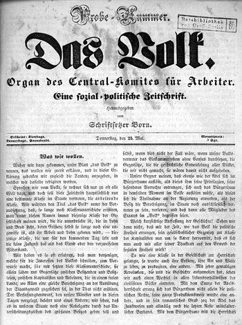 """Zeitschrift """"Das Volk"""" (Organ des &q..."""