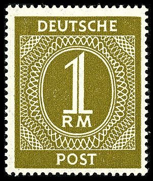 Stamp in occupied Germany, 1946: the neutral e...