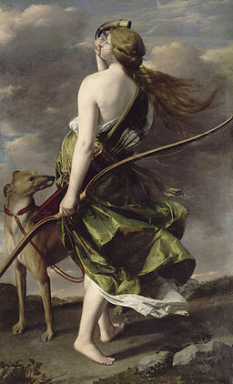 Diana the Huntress by Orazio Gentileschi (17th-century)