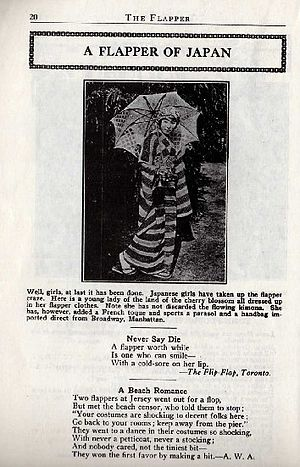"Page from magazine ""The Flapper"" for..."