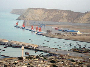 Gwadar Port looking towards the Gulf of Oman