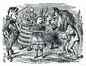 Tenniel illustration of Lion and Unicorn and A...
