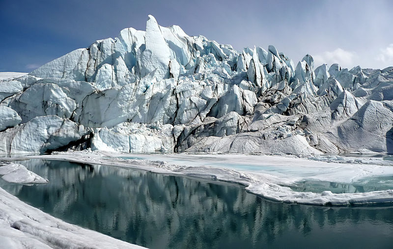 Mouth of the Matanuska Glacier in Alaska