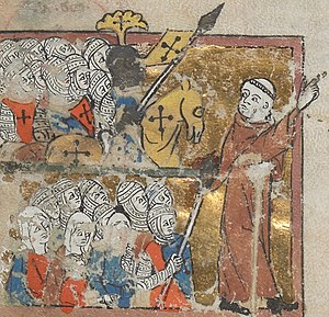 English: peter the hermit leads the first crusade