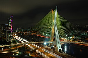 English: The Octavio Frias de Oliveira bridge,...