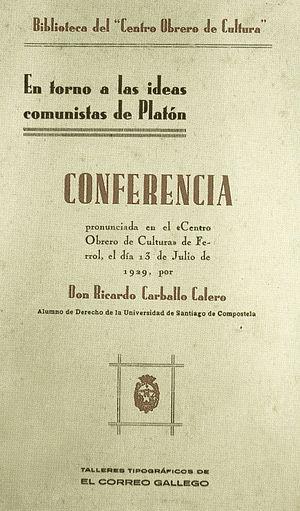 Galego: Ricardo Carballo Calero: En torno a la...