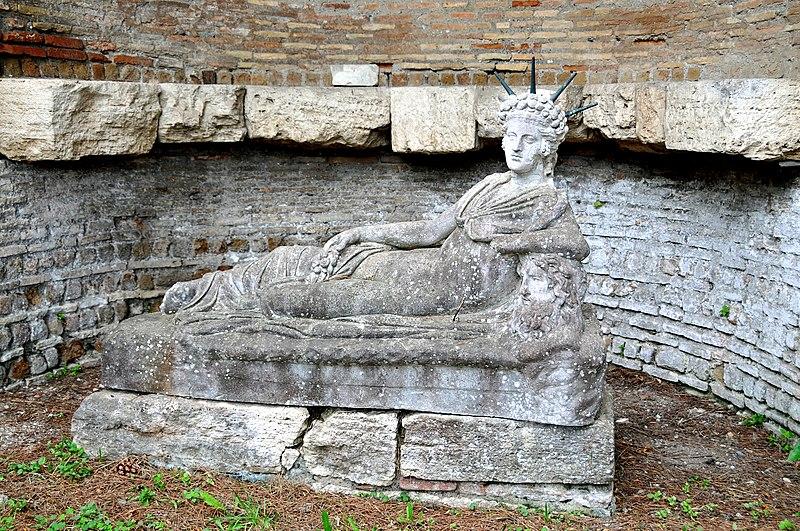 File:Statue of a reclining Attis at the Shrine of Attis 1.jpg