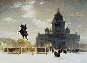 Jinete de Bronce, por Vasili I. Súrikov.