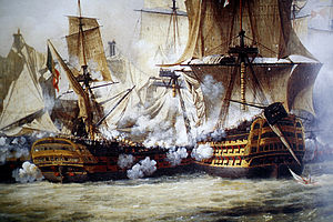 English: Scene of the Battle of Trafalgar