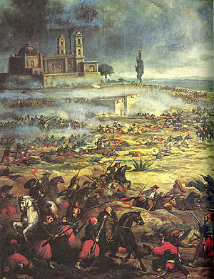 Charge of the Mexican Cavalry at the Battle of...