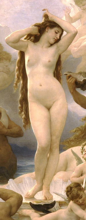 Detail from Birth of Venus by William-Adolphe ...