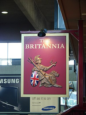 English: Britannia Pub Sign, near to Camden To...