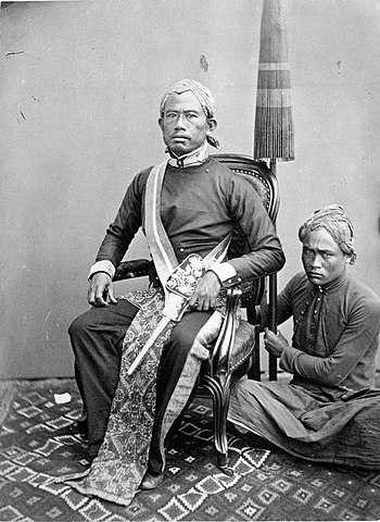 Photograph of an aristocrat from Bandoeng with...
