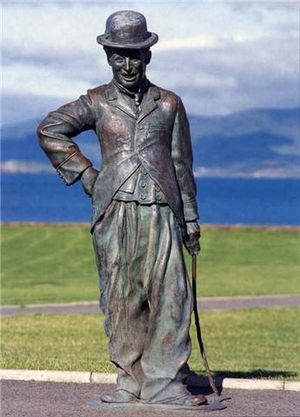 English: Bronze, life size Charlie; co-commiss...