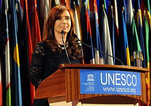 Español: Cristina Fernández de Kirchner en el ...