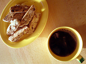 Biscotti og kaffe