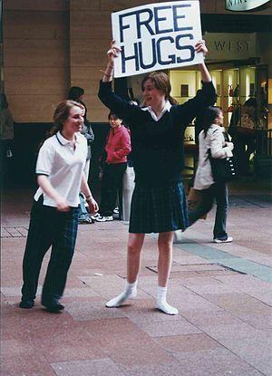 Free Hugs in Sydney, August 2004