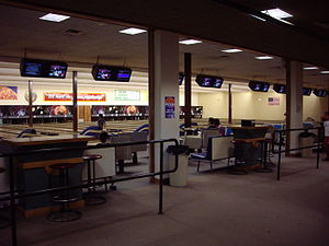 English: Bowling alley at Funspot