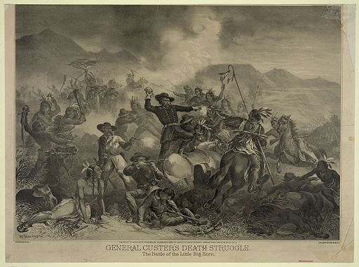 General Custer's Death Struggle, H. Steinegger, ca. 1878