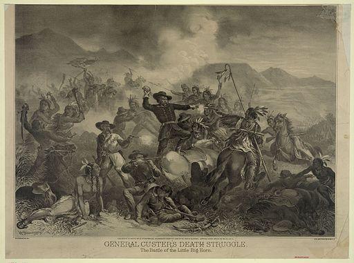General Custer's Death Struggle, H. Steinegger, ca. 1878