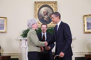 Kathleen Sebelius is sworn in as Secretary of ...