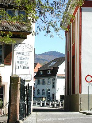Marktstrasse in Müllheim (Baden/Markgräflerland)