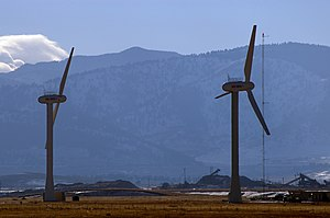 The main research windmills at NREL
