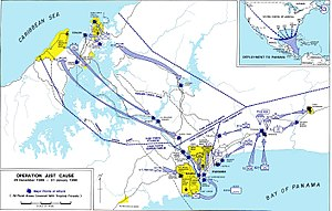 Map of US-Operation Just Cause, Invasion of Pa...