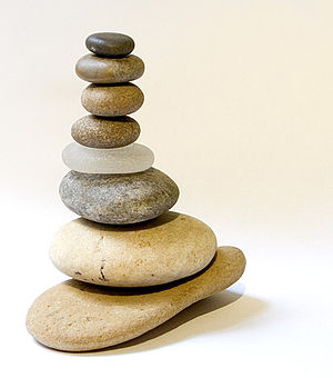 A stack of pebbles (I love pebble stacking)