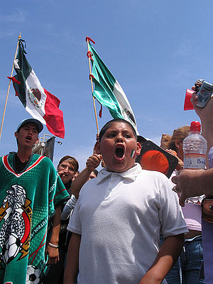 Illegal Immigrant rights protest in the US/Mex...