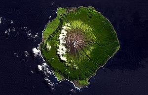 NASA Terra ASTER image of Tristan da Cunha Isl...