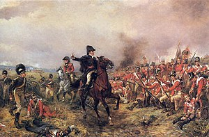 The Duke of Wellington at the Battle of Waterl...