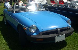 1977 MG MGB photographed at the 2008 Hudson Br...