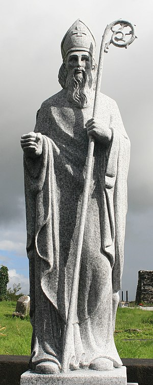 Statue of St. Patrick in Aughagower, County Mayo