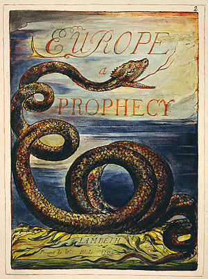 Plate from Europe a Prophecy, copy K, in the c...