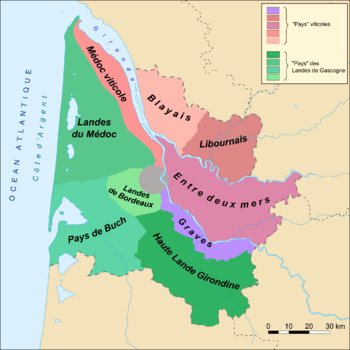 Map of the Gironde