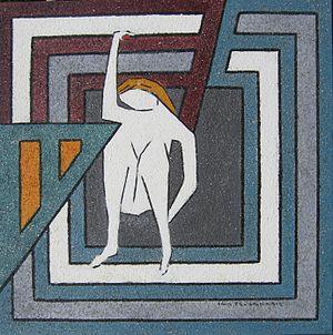 English: Erik Pevernagie, painting. Representi...