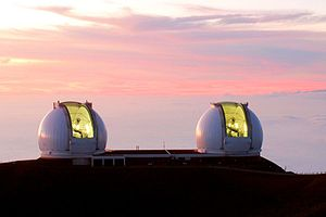 W. M. Keck Observatory at sunset