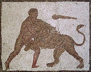Length: 550 cm. Width: 450 cm. (whole mosaic).